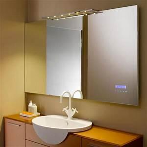 miroir salle de bain infos et prix des miroirs de salle With miroir chauffant salle de bain