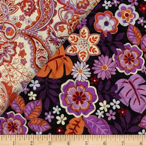 sided quilted fabric sided quilted orange pink