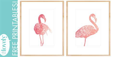 pink flamingo printables   art