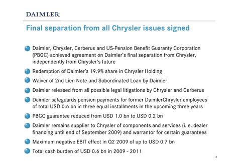 Q1 2009 Earning Report Of Daimler Chrysler Ag