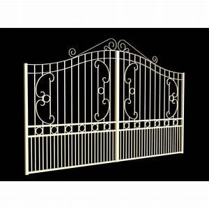 Portail Alu Battant 3m50 : portail battant 2 vantaux fer forg ciotat noir 3m50 ~ Dailycaller-alerts.com Idées de Décoration