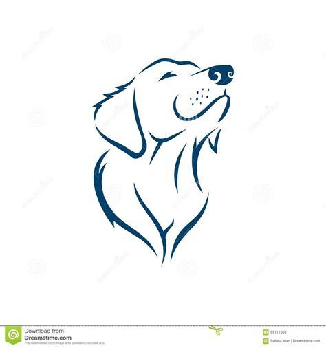 dog face silhouette logo template stock vector