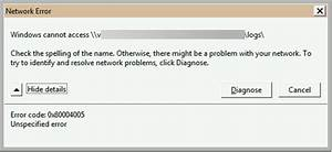 "Tips to Resolve ""Error 0x80004005"" in Microsoft Exchange ..."