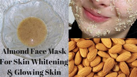 almond mask for skin whitening and glowing skin