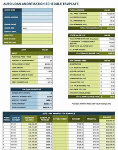 Amortization table auto loan brokeasshomecom for Car payment schedule template