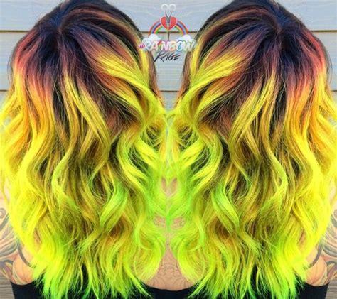 1000 Ideas About Neon Green Hair On Pinterest Green