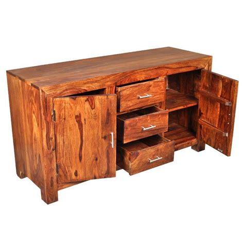 Solid Wood Sideboards by Santa Rustic Solid Wood 3 Drawer Sideboard
