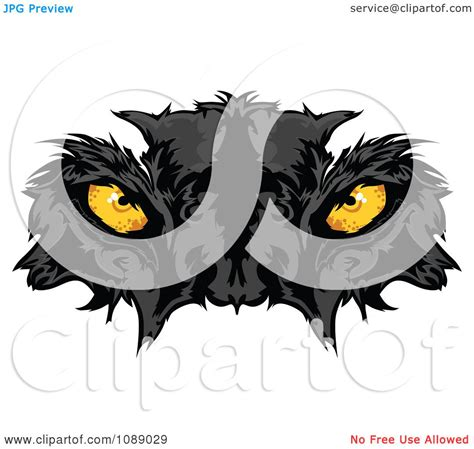 free royalty free clipart clipart yellow black panther mascot royalty free
