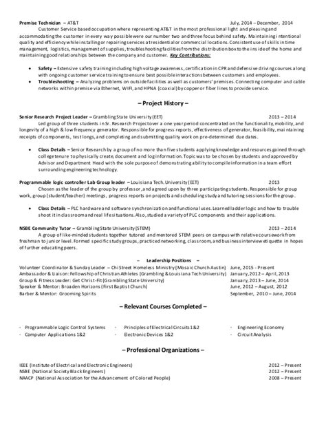 Rv Technician Resume by Marvaughons Technical Resume Sheet