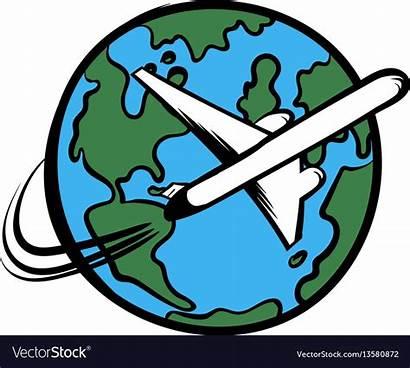 Plane Cartoon Traveling Icon Vector Royalty