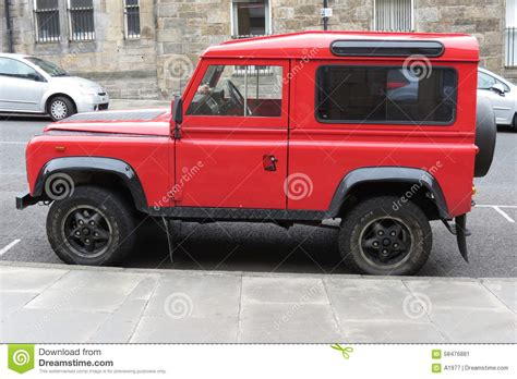 Red Land Rover Defender 110 Editorial Photo Image 58476881