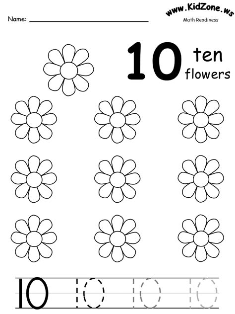 crafts actvities and worksheets for preschool toddler and 584 | math ten