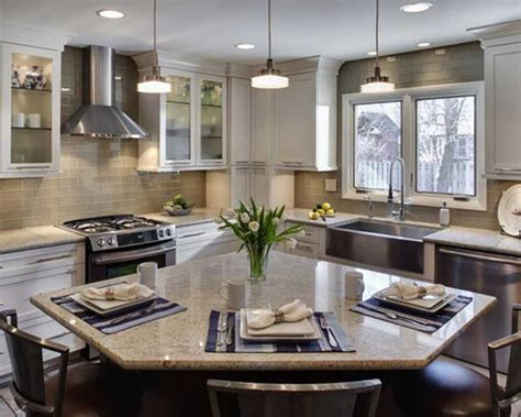 kitchen layouts l shaped with island small l shaped kitchens with islands search