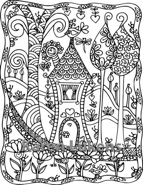 5 pages happyville coloring pack 3 5 adult coloring book