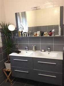 salle de bain grise et blanche recherche google salle With salle de bain faience grise