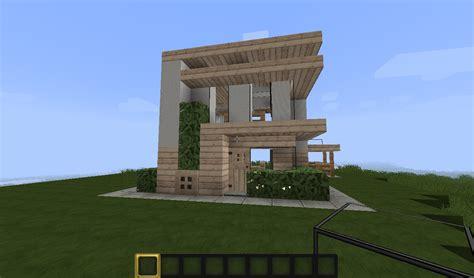 wooden storage box minecraft small modern house minecraft project