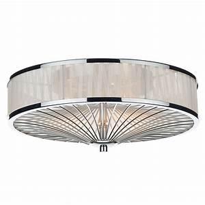 Dar lighting oslo flush ceiling light in white fitting