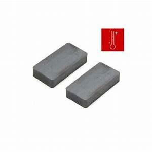 50 x 25 x 10mm thick Y30BH Ferrite Magnet - 1.2kg Pull ...