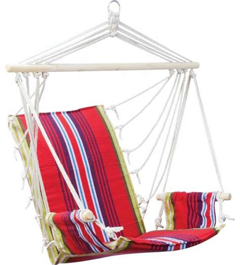 hanging rope chair with armrests style hammocks and