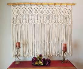 curtain rod your own macrame curtain home design garden