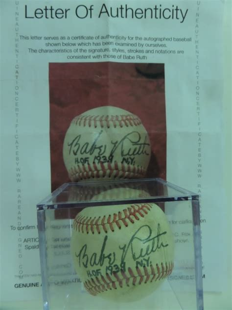 Coach's Corner - Babe Ruth Yankees single-signed/certified ...
