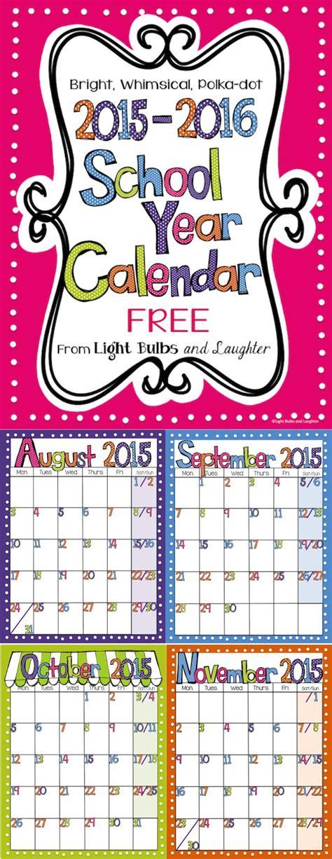 editable bright polka dot monthly calendars clip art