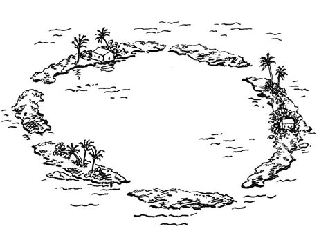 Coloring Page Atoll island group free printable