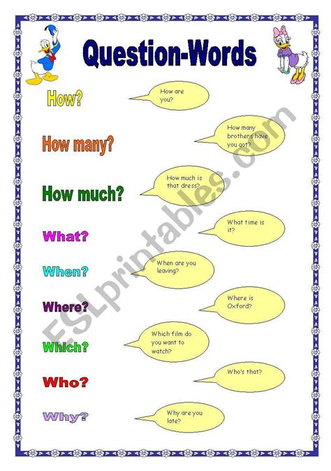 question words 17 09 08 esl worksheet by manuelanunes3