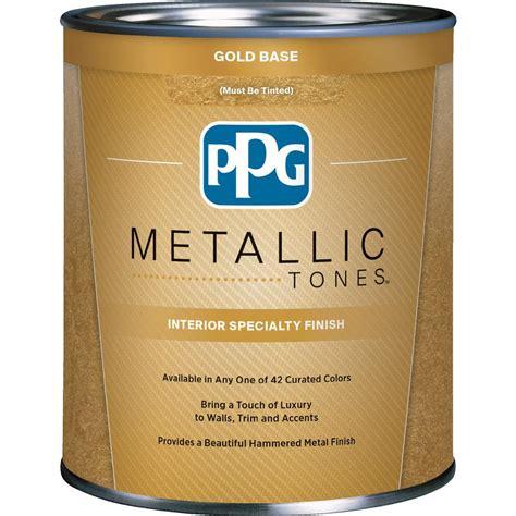 ppg metallic tones 1 qt gold metallic interior specialty