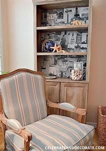 Back, Of, Bookcase, U0026, Shelf, Makeover, Ideas