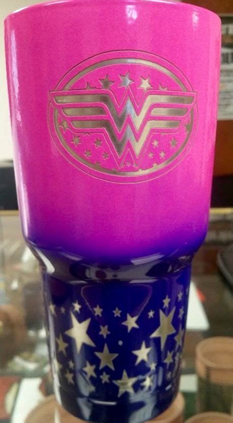 woman pink  blue powder coated  laser etched yeti yeti cup designs tumbler