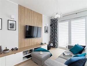 Petite Tv Ecran Plat : cran plat mural une option l gante pour le salon moderne home salon moderne parement ~ Nature-et-papiers.com Idées de Décoration