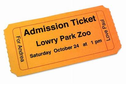 Ticket Admission Clipart Zoo Personalized Template Clip