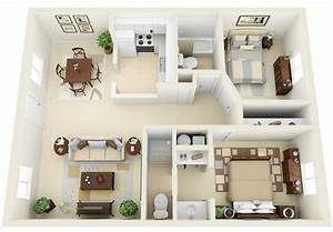 2 bedroom apartment house plans smiuchin With plan for two bedroom flat