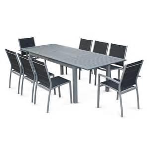 salon de jardin 8 places table 224 rallonge extensible 175