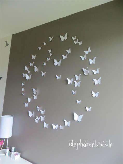 d馗oration papillon chambre décoration murale chambre