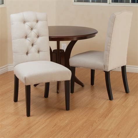 christopher home berlin tufted fabric dining chair
