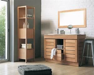 Salle De Bain Bois : inspiration une salle de bains en bois inspiration bain ~ Teatrodelosmanantiales.com Idées de Décoration