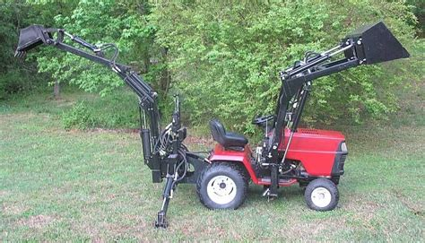 garden tractor loader gallery category customers pics the quot micro hoe quot for 3734