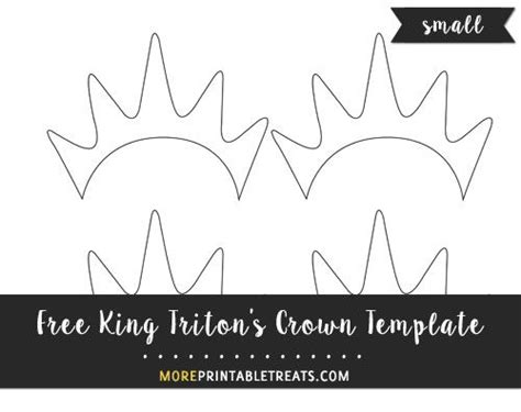 king tritons crown template small size