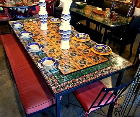 mosaic kitchen table top mexican tile tabletops mexican tile faq dining table