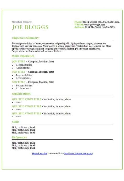 apple accents cv r 233 sum 233 template how to write a cv