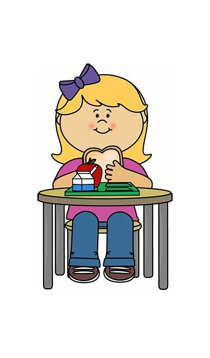 Lunch Eating Clipart Eat Cafeteria Clip Cliparts