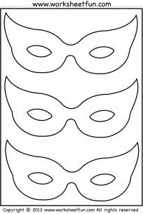 Cutting Worksheets Free Printable Halloween Mask