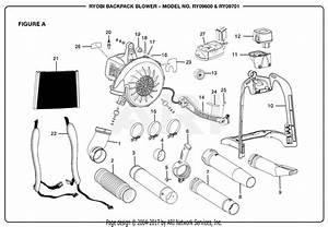 Homelite Ry09600 Backpack Blower Parts Diagram For Figure A