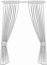 Curtain Silhouette Outline Pages Coloring Vector Silhouettes Svg Through sketch template