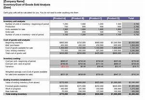 Profit And Loss Analysis Excel Inventory Analysis Inventory Analysis Template