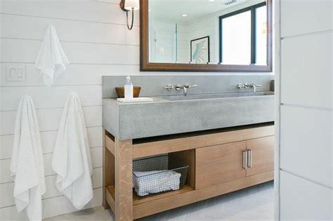 Concrete Sink   Cottage   bathroom   M. Elle Design