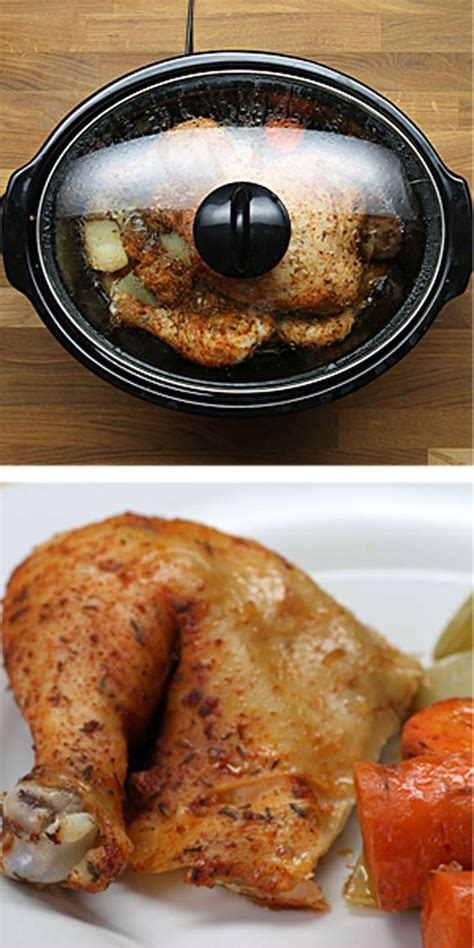 how to cook a 6 pound chicken how to cook an entire chicken in a slow cooker slow cooker life pinterest celery salts