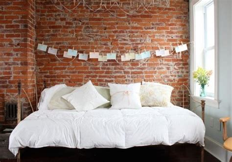 31 Idea To Decorate A Brick Wall Behind Your Bed